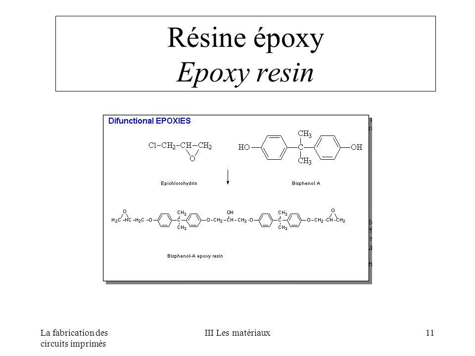 Résine époxy Epoxy resin