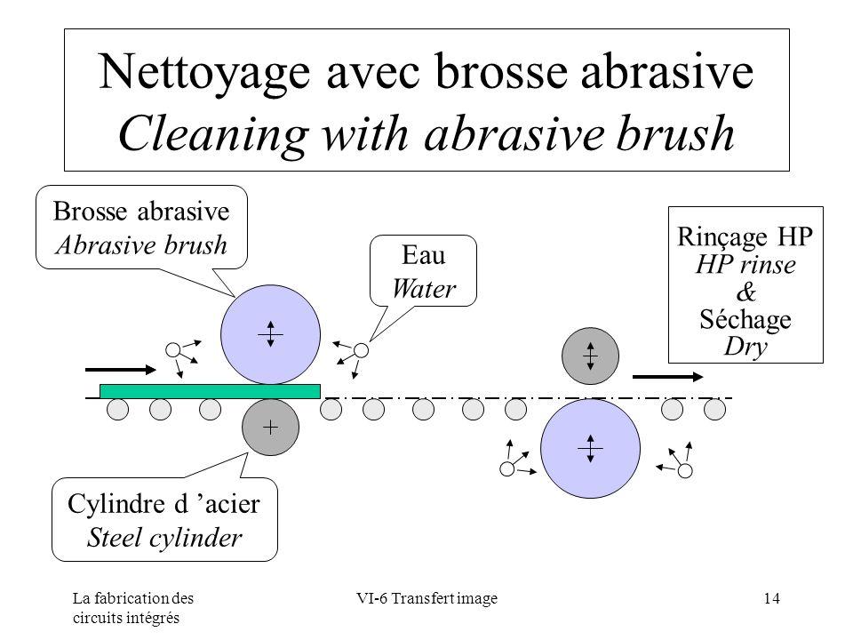 Nettoyage avec brosse abrasive Cleaning with abrasive brush