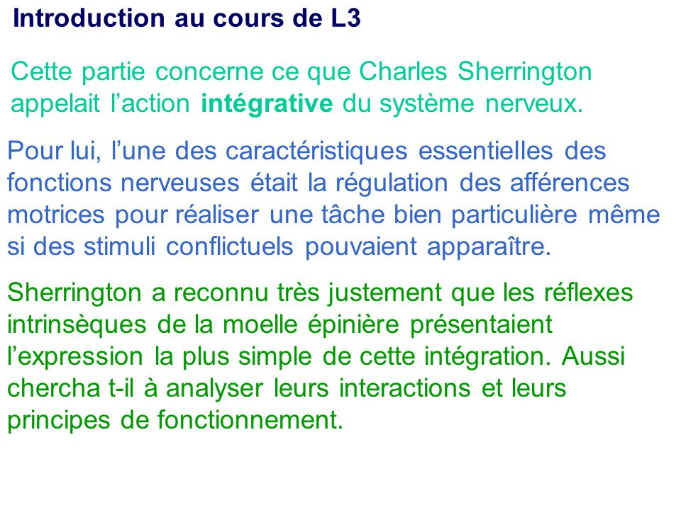 Introduction au cours de L3