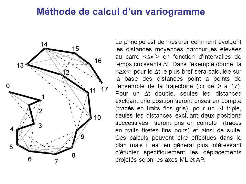 Méthode de calcul d'un variogramme