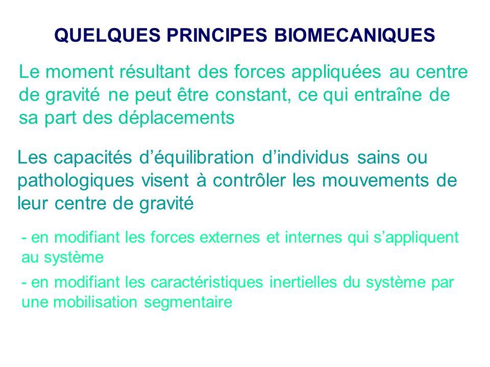 QUELQUES PRINCIPES BIOMECANIQUES
