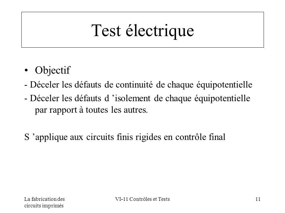 Test électrique Objectif
