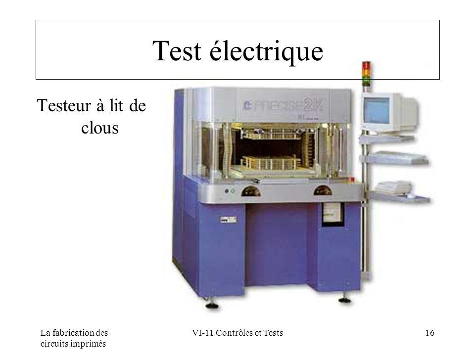 Test électrique Testeur à lit de clous