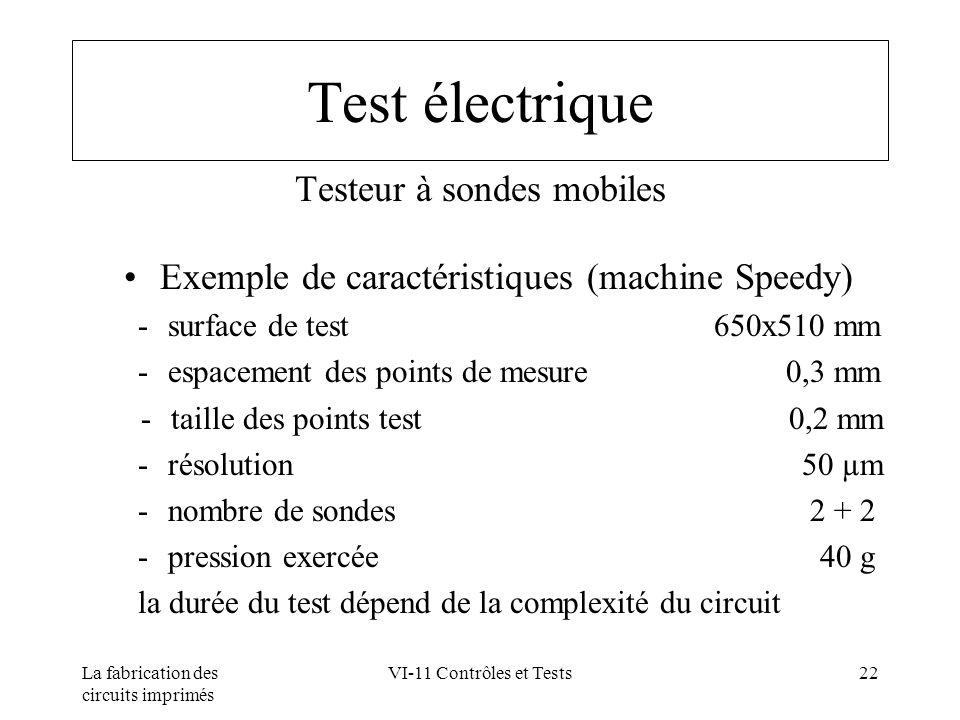 Test électrique Testeur à sondes mobiles