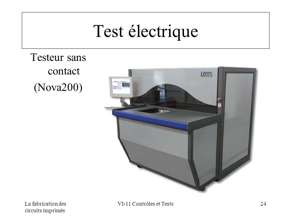 Test électrique Testeur sans contact (Nova200)