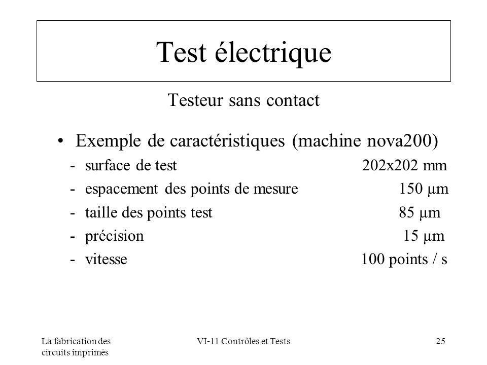 Exemple de caractéristiques (machine nova200)