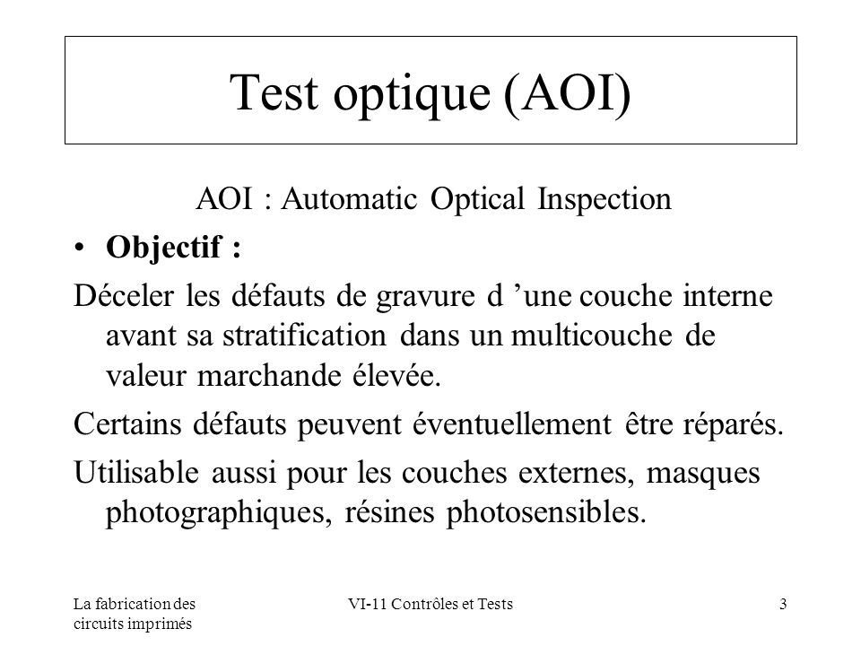 AOI : Automatic Optical Inspection