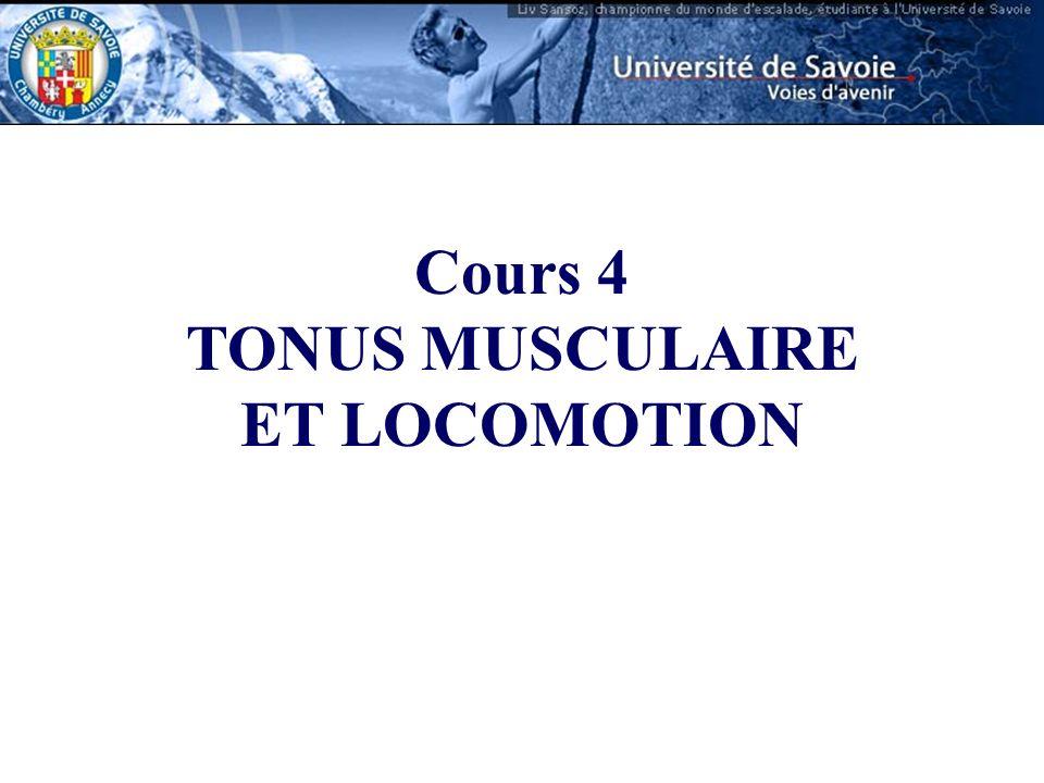 Cours 4 TONUS MUSCULAIRE ET LOCOMOTION