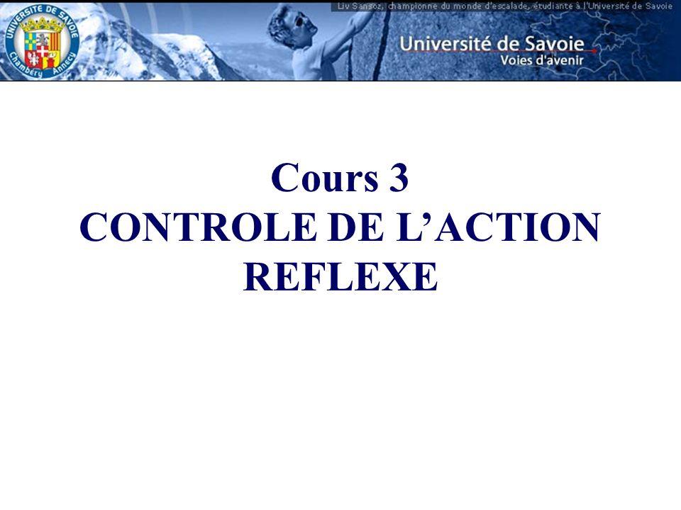 CONTROLE DE L'ACTION REFLEXE