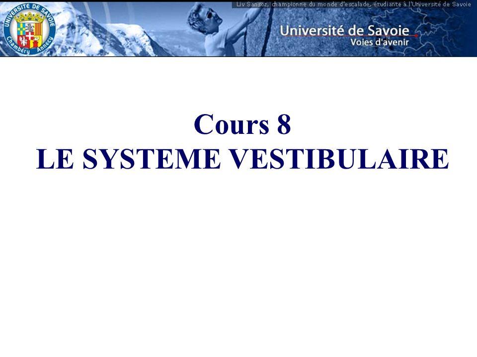 LE SYSTEME VESTIBULAIRE