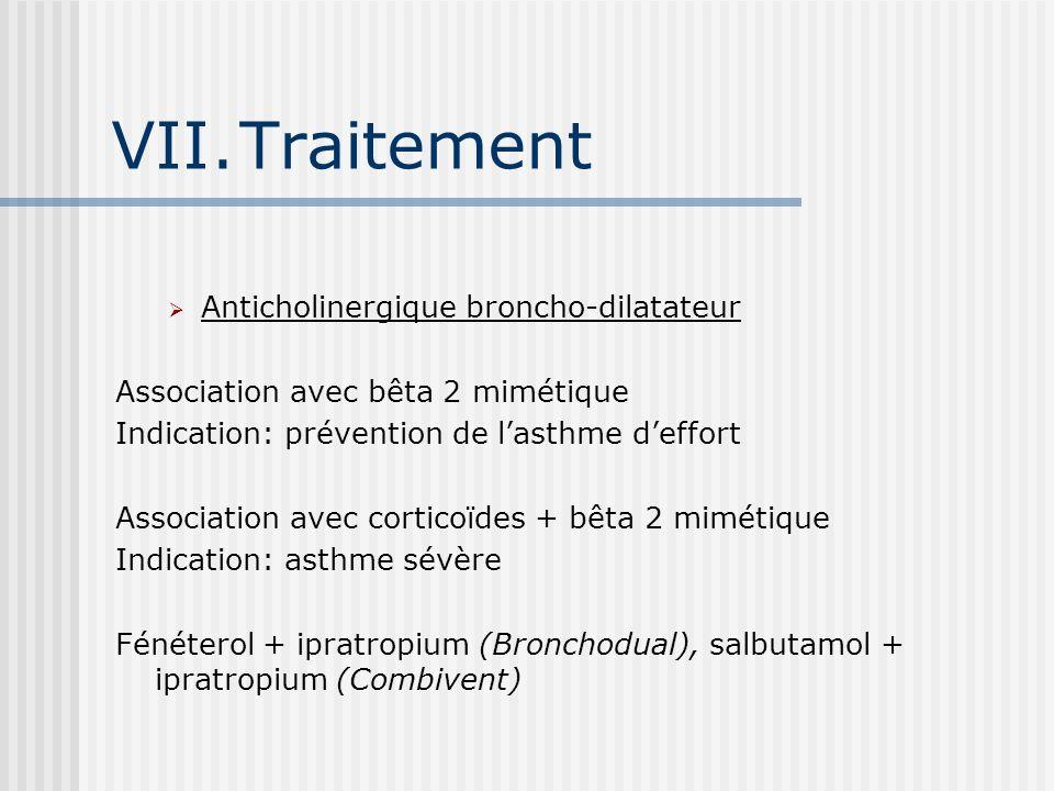 Traitement Anticholinergique broncho-dilatateur