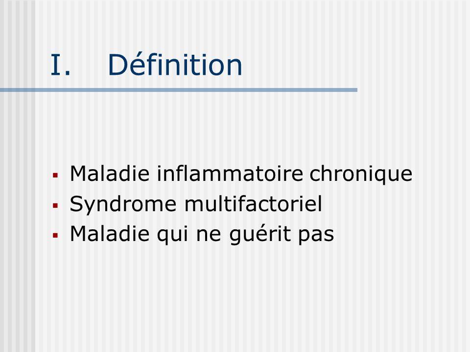 Définition Maladie inflammatoire chronique Syndrome multifactoriel