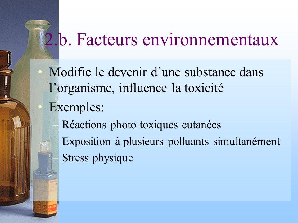 2.b. Facteurs environnementaux