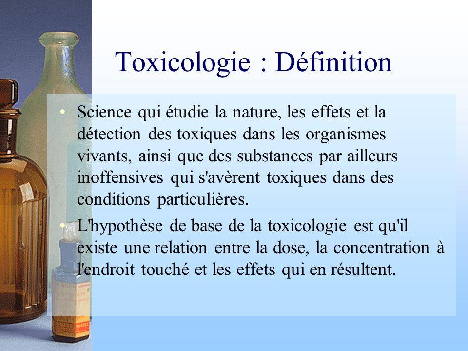 Toxicologie : Définition