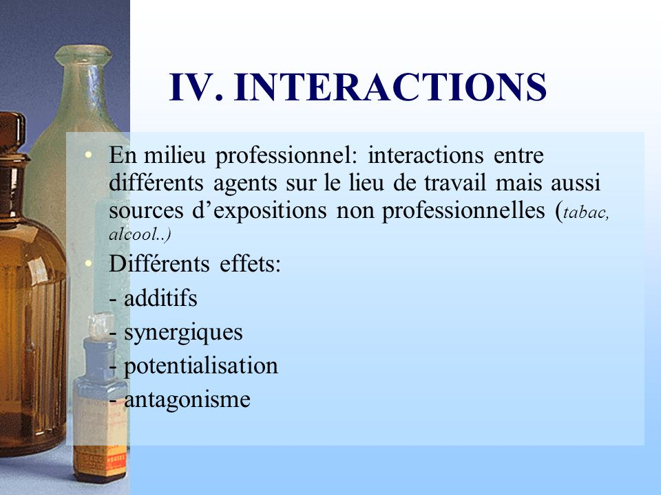 IV. INTERACTIONS