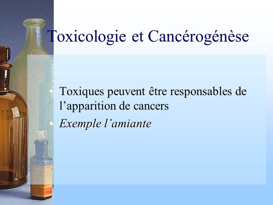 Toxicologie et Cancérogénèse