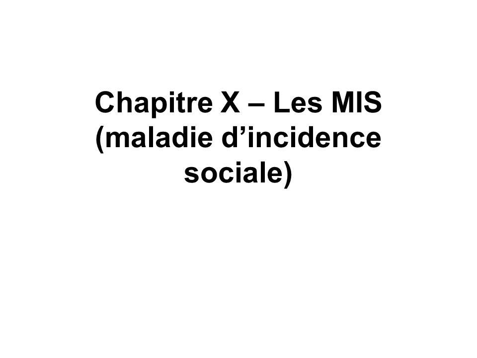 Chapitre X – Les MIS (maladie d'incidence sociale)
