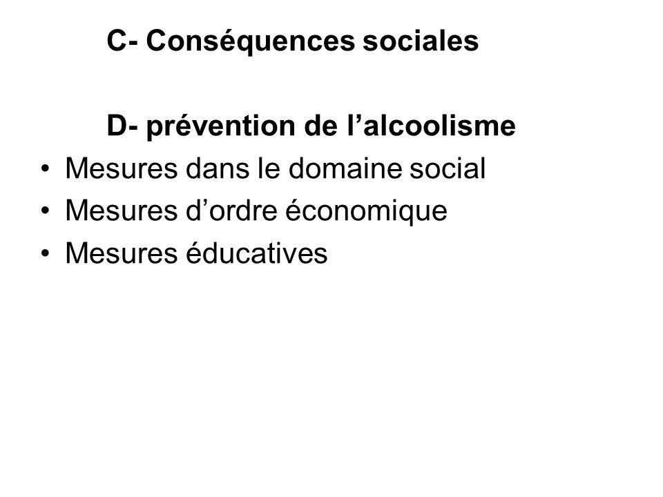 C- Conséquences sociales