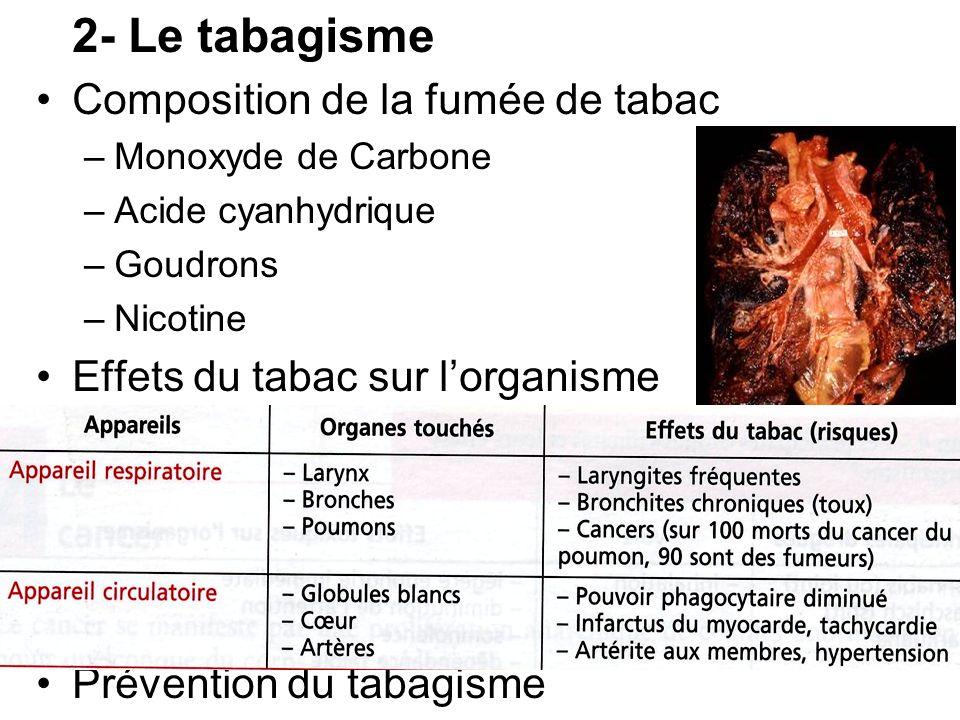 Composition de la fumée de tabac