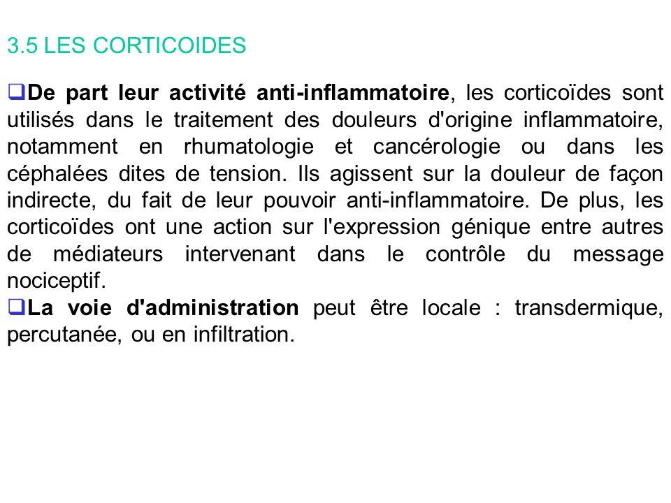 3.5 LES CORTICOIDES