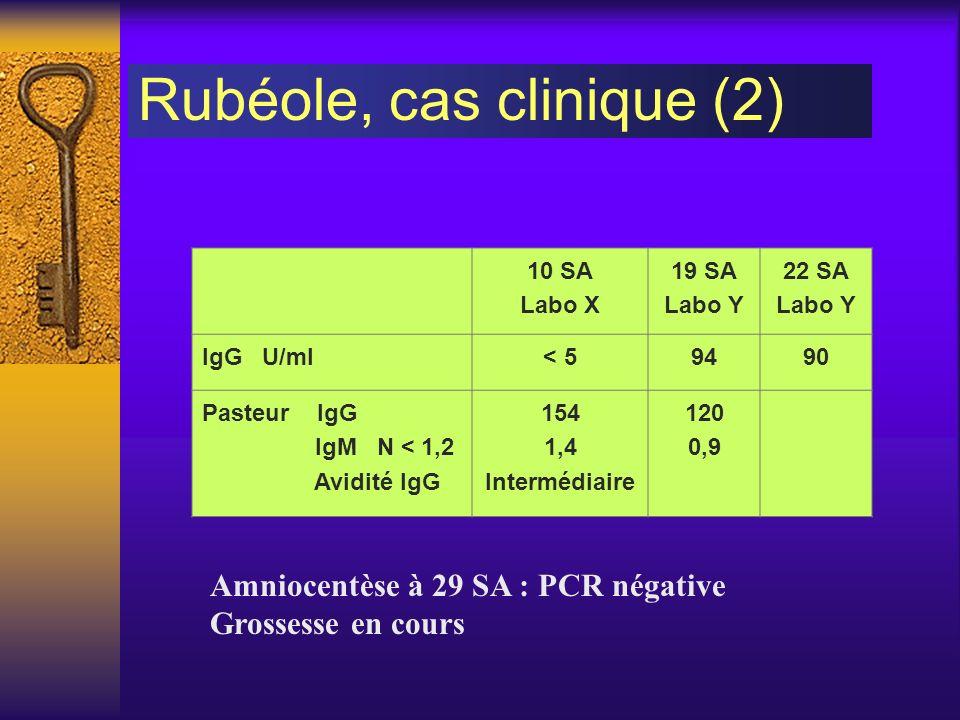 Rubéole, cas clinique (2)
