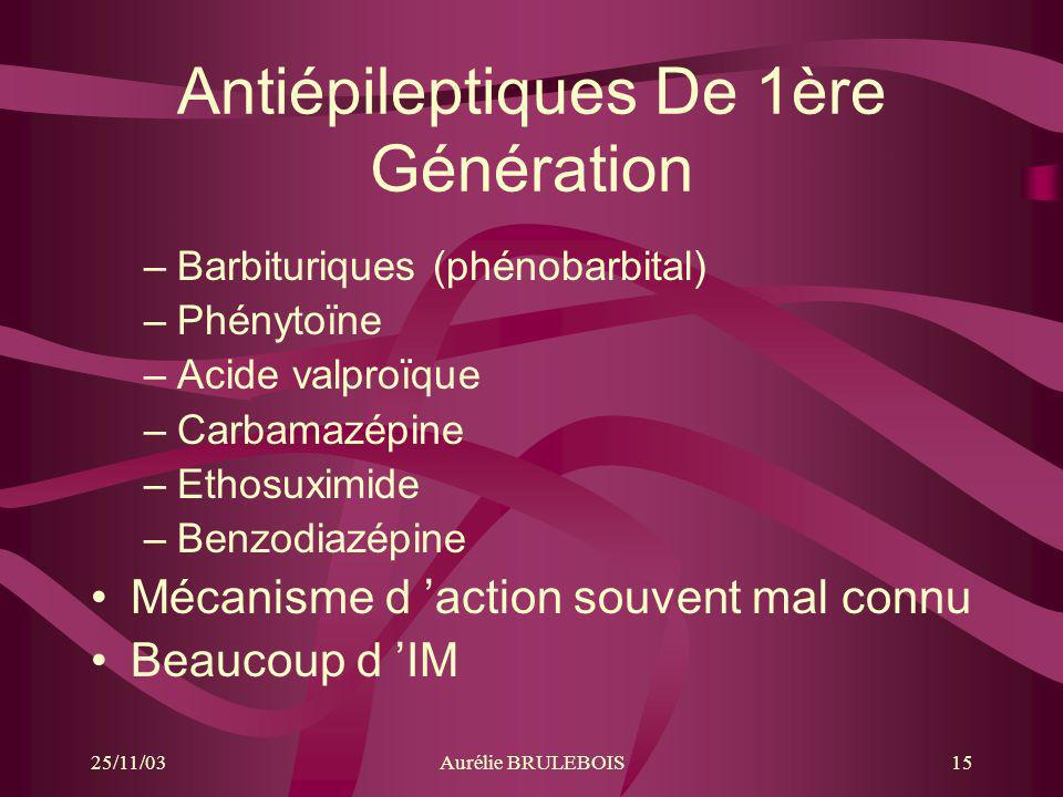 Antiépileptiques De 1ère Génération