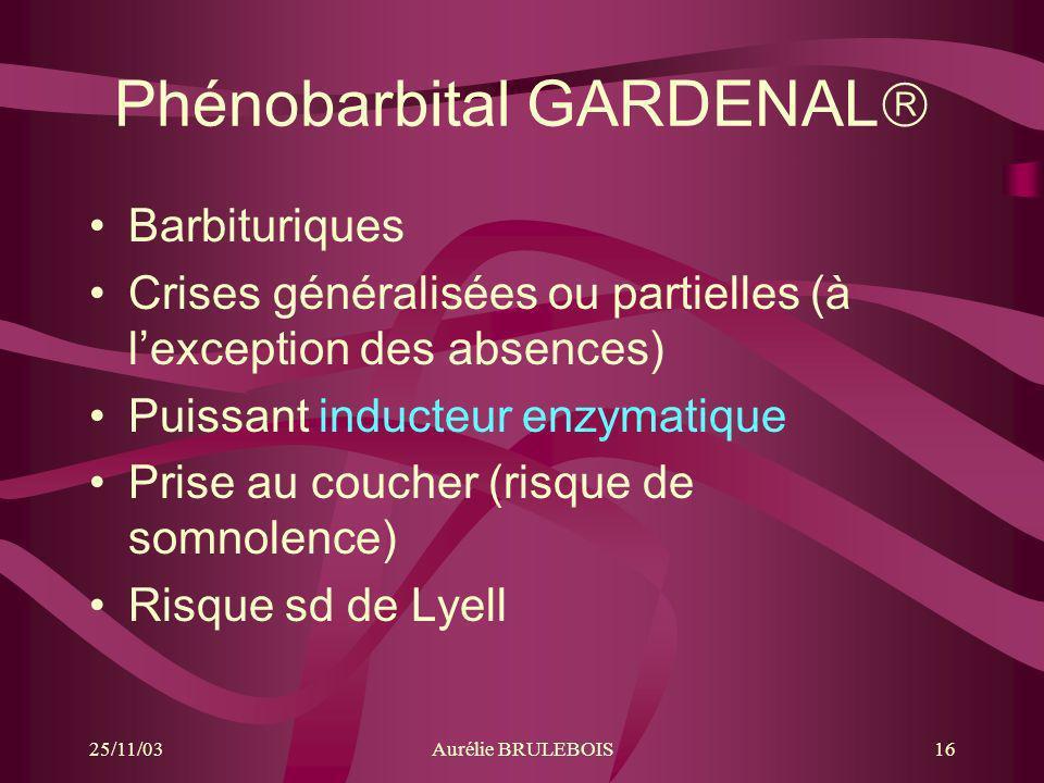 Phénobarbital GARDENAL