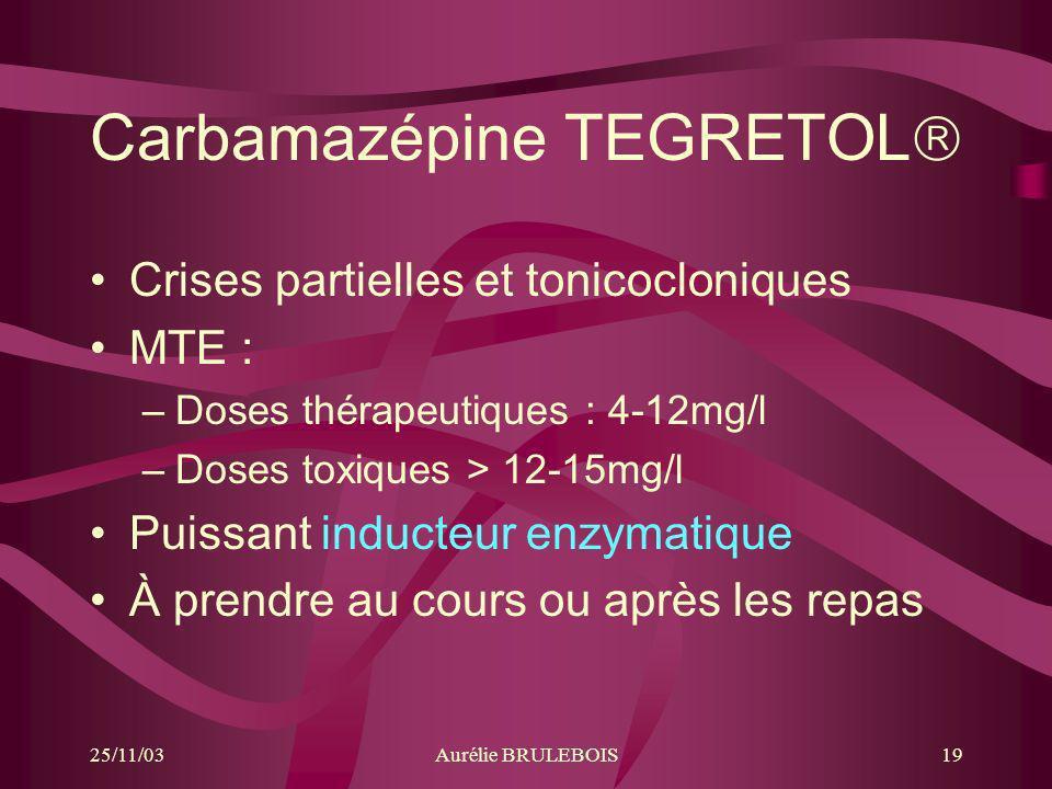 Carbamazépine TEGRETOL