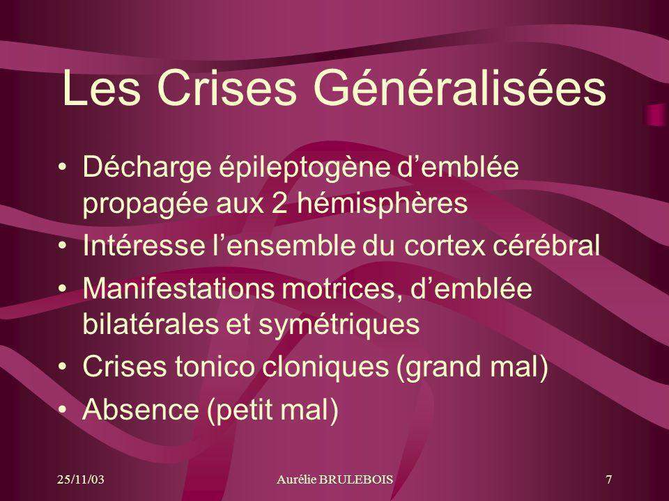Les Crises Généralisées