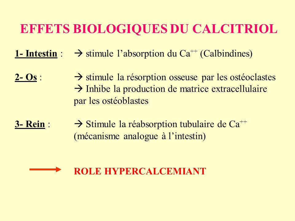 EFFETS BIOLOGIQUES DU CALCITRIOL