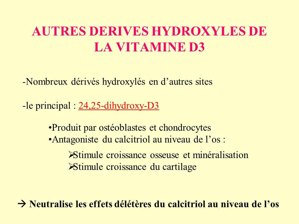 AUTRES DERIVES HYDROXYLES DE LA VITAMINE D3