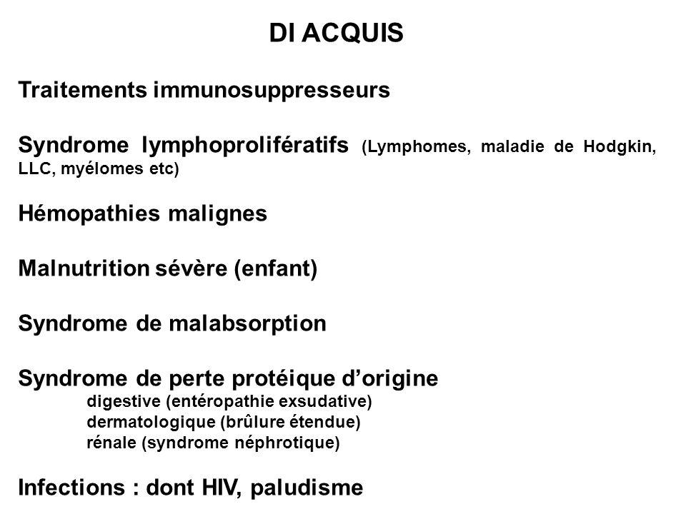 DI ACQUIS Traitements immunosuppresseurs