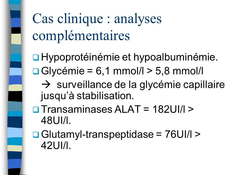 Cas clinique : analyses complémentaires