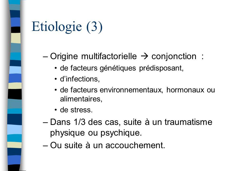 Etiologie (3) Origine multifactorielle  conjonction :