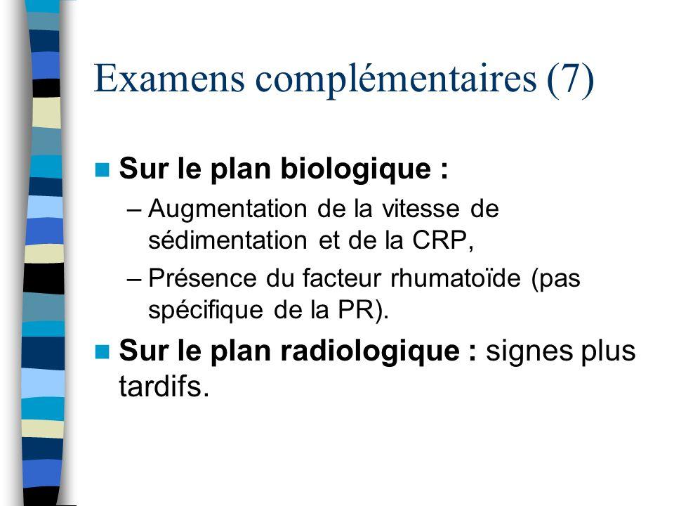 Examens complémentaires (7)