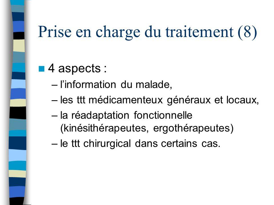 Prise en charge du traitement (8)