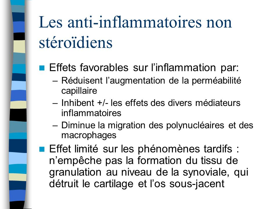 Les anti-inflammatoires non stéroïdiens