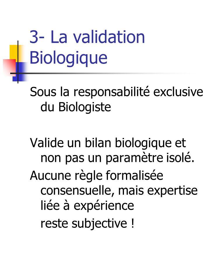 3- La validation Biologique