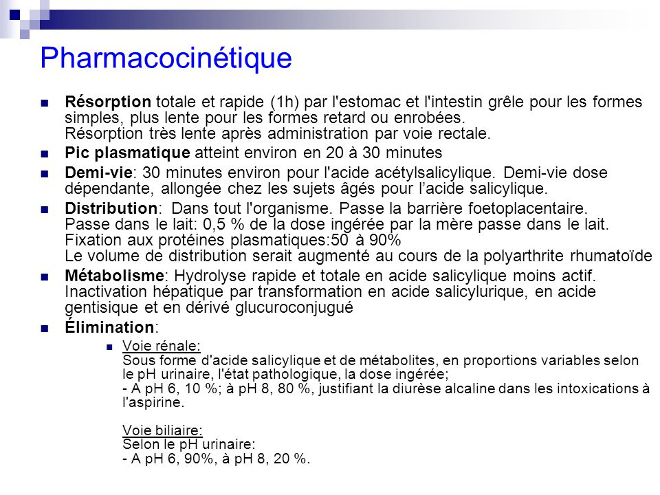 Pharmacocinétique
