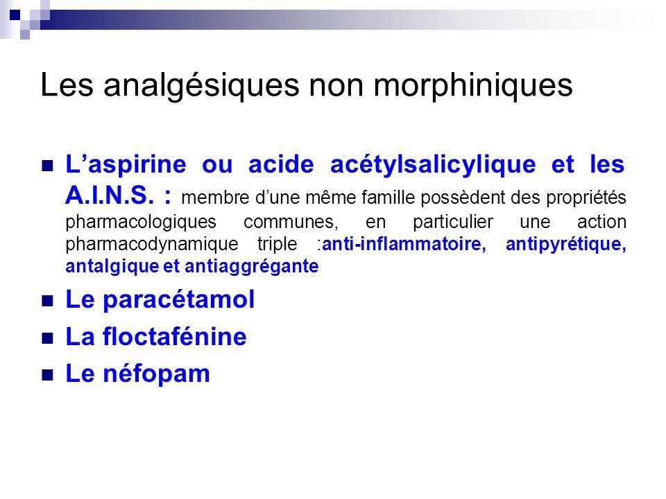 Les analgésiques non morphiniques