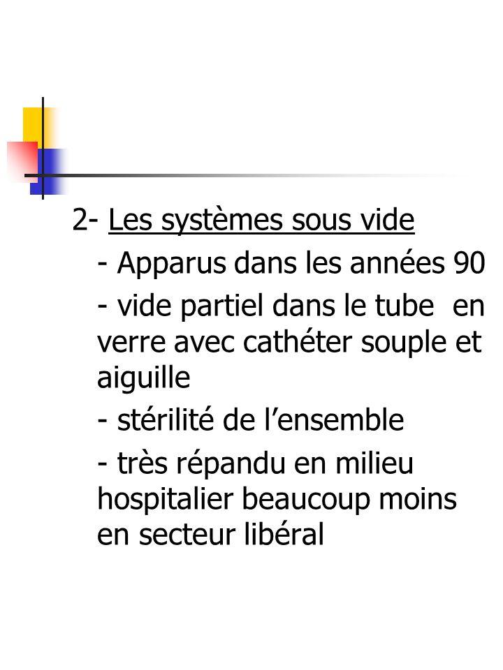 2- Les systèmes sous vide