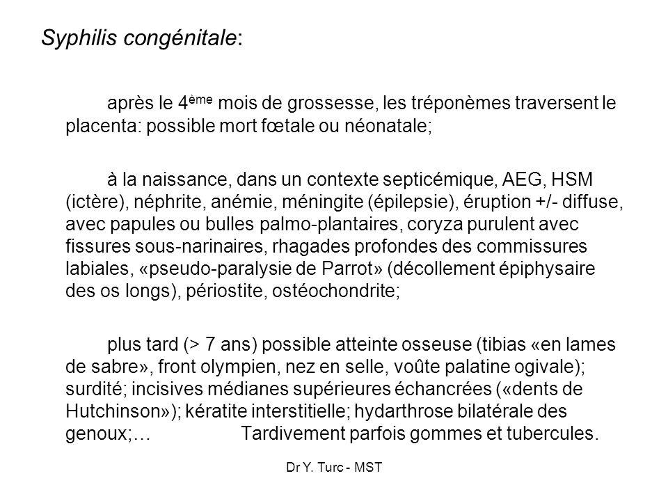 Syphilis congénitale: