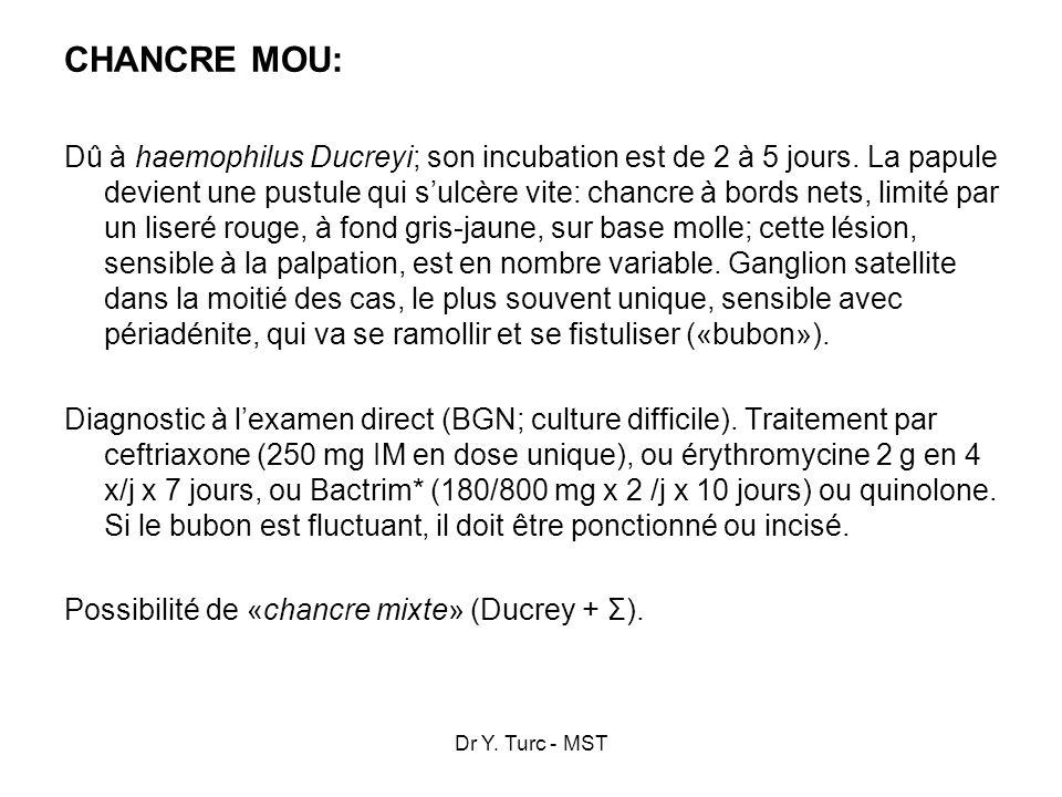 CHANCRE MOU: