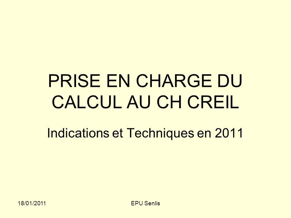 PRISE EN CHARGE DU CALCUL AU CH CREIL