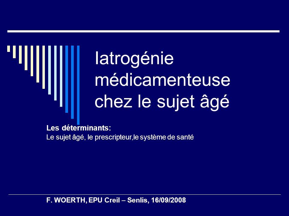 Iatrogénie médicamenteuse chez le sujet âgé