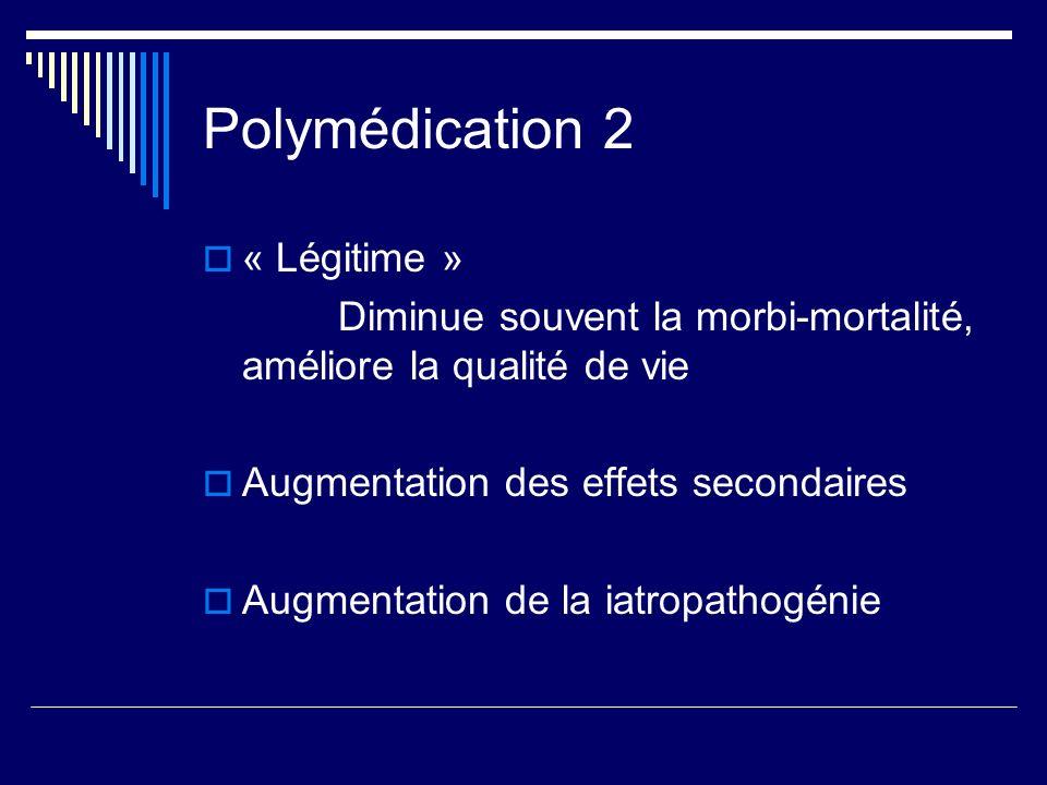Polymédication 2 « Légitime »