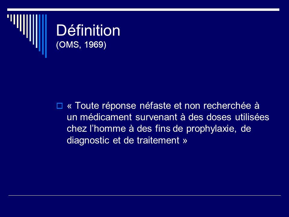 Définition (OMS, 1969)
