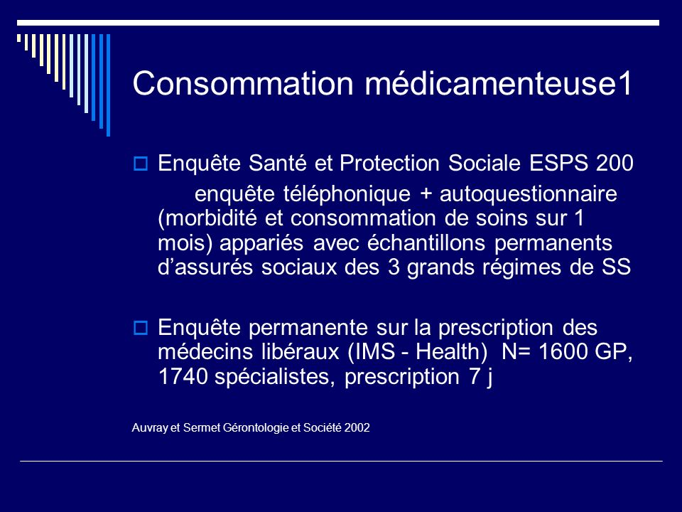 Consommation médicamenteuse1