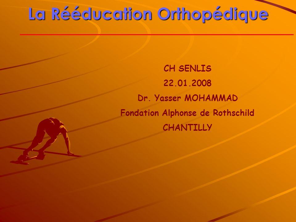 La Rééducation Orthopédique Fondation Alphonse de Rothschild