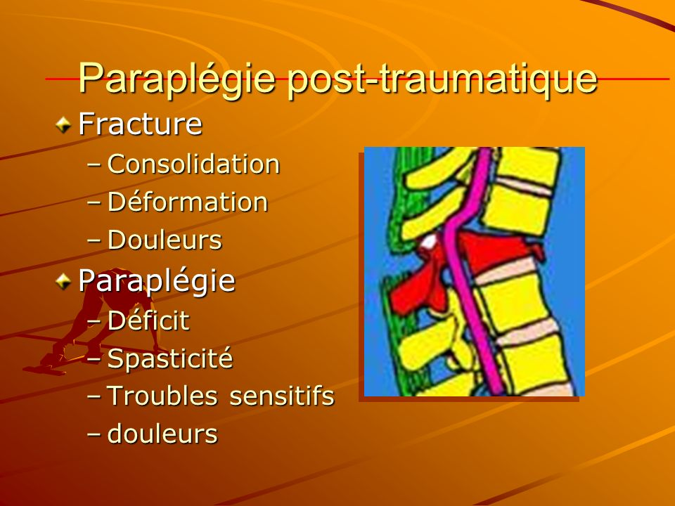 Paraplégie post-traumatique
